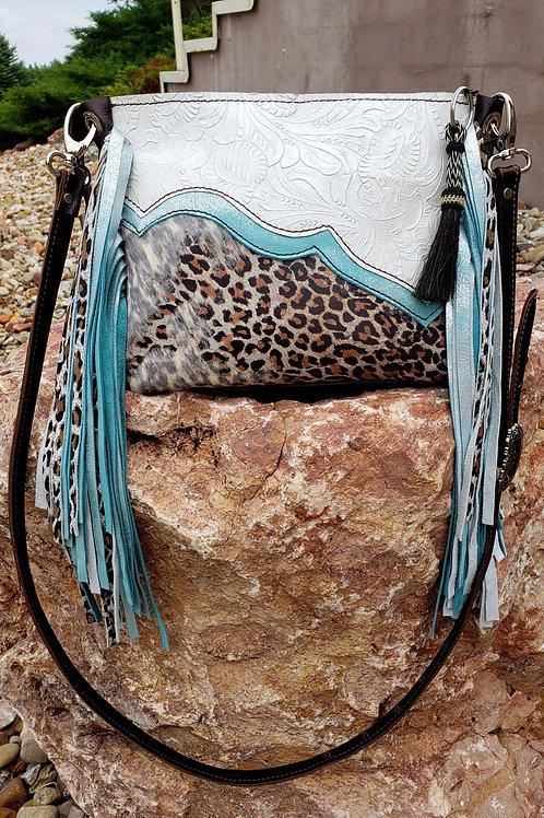Turquoise Leopard Crossbody Bag