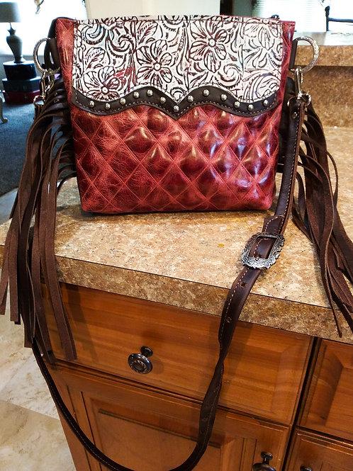 Diamond and Floral Desert Style Crossbody Bag