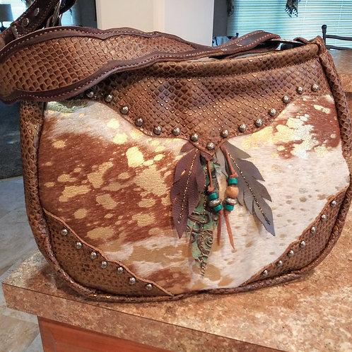 Handcut Feather Shoulder Bag