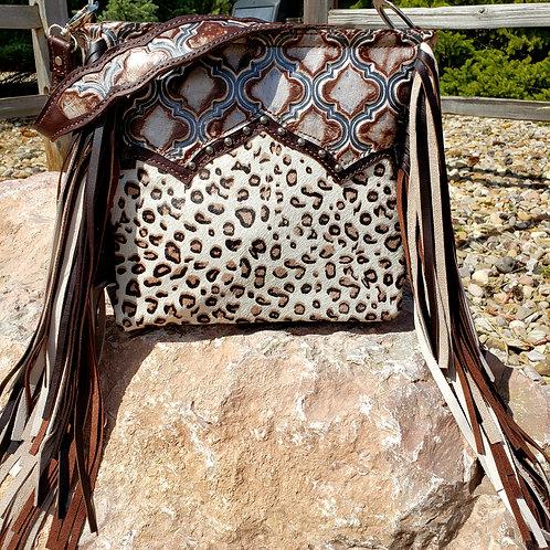 Leopard Tile Shoulder Bag