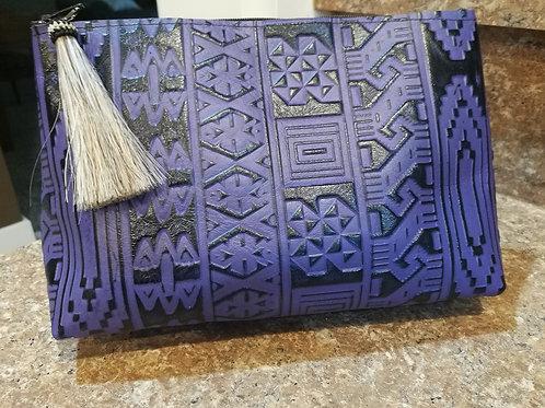 Purple Aztec Cosmetic Bag