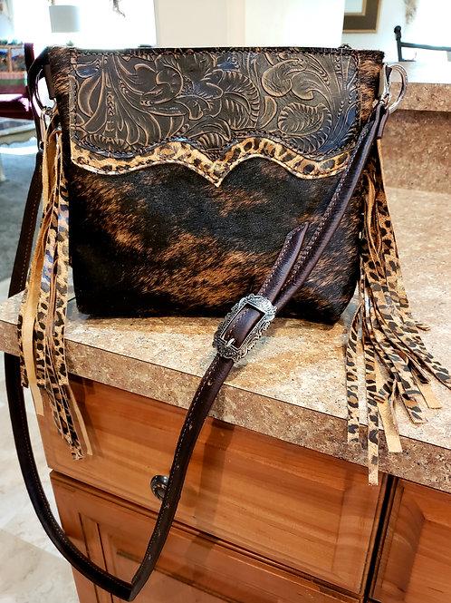 Leopard Fringe Desert Style crossbody bag