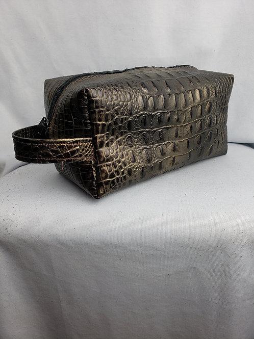 Bronze Croc Travel Kit