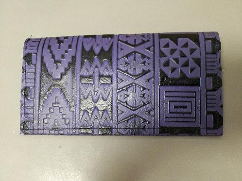 Purple Aztec Check Book
