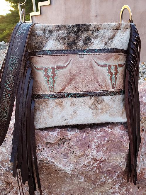 Rustic Steerheads Crossbody Bag