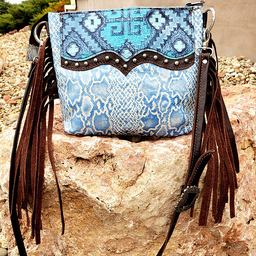 Cool Blue Desert Style crossbody bag