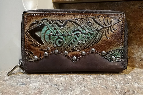 Preorder feather Organizer Wallet. Ships in one week.