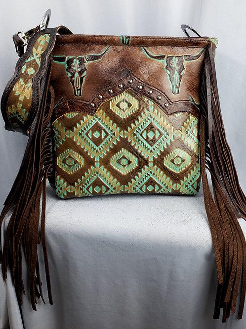 Turquoise Steerhead Shoulder Bag