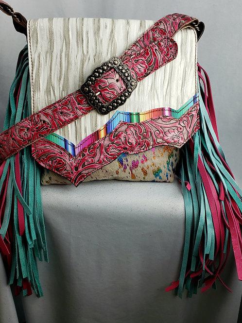 Rainbow Flap  and Acid Wash Crossbody Bag