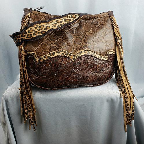 Leopard Waterfall  Shoulder Bag