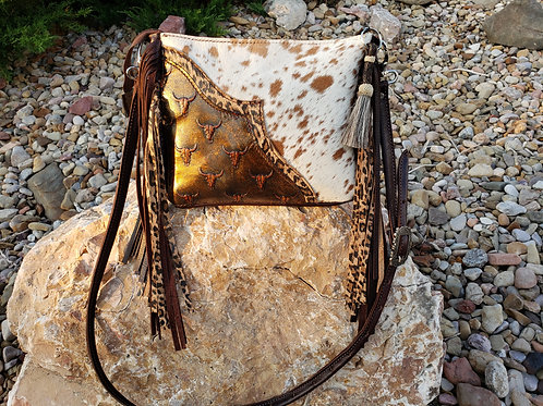 Mini Steerhead Leopard Crossbody Bag
