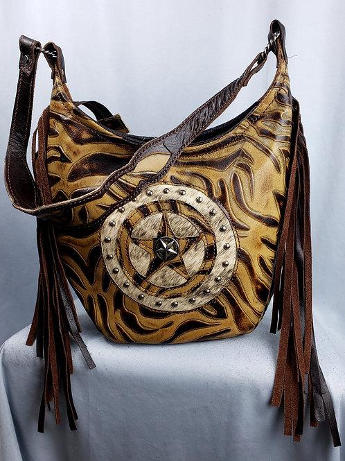 Western  Safari Star Hobo Bag