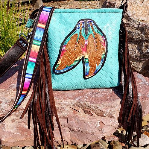 Serape Feathers Crossbody Bag