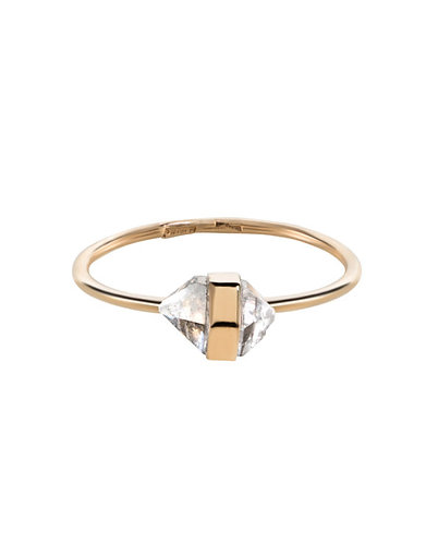 "Herkimer ""Diamond"" Ring in Gold"