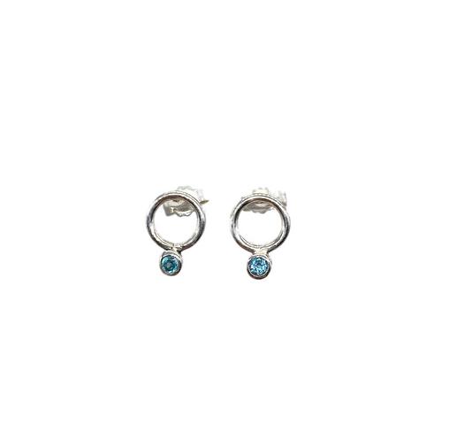O2 gemstone earrings