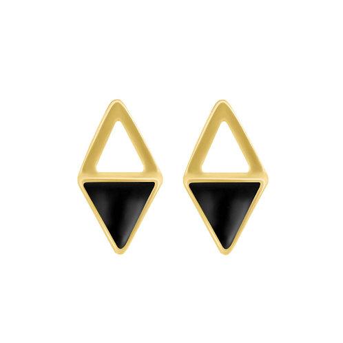 Navarra Earrings Silver/Black