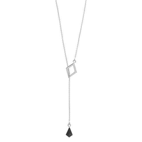 Elena Necklace Silver/ Black