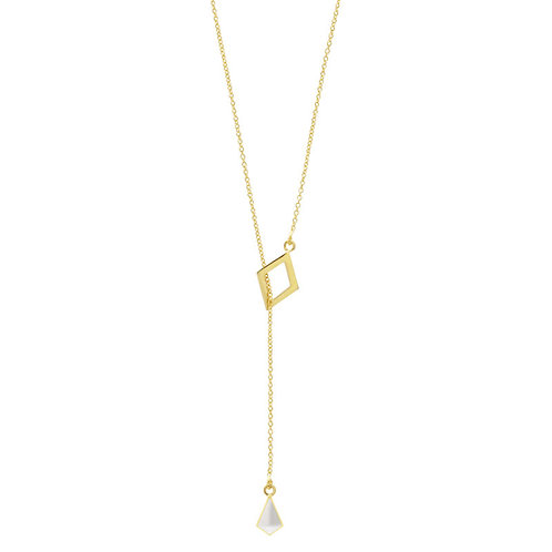 Elena Necklace Gold/White