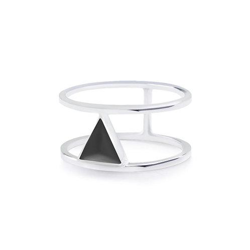 Calla Liliya Ring Silver/Black