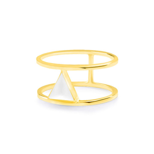 Calla Liliya Ring Gold/White
