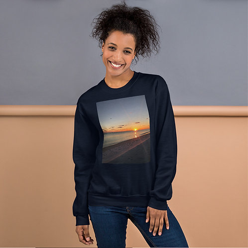 Tropical Beach at Sunset Florida Photography Unisex Sweatshirt Pullover