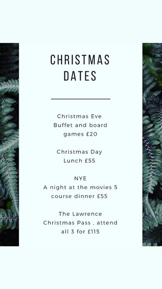 The Lawrence Christmas dates!