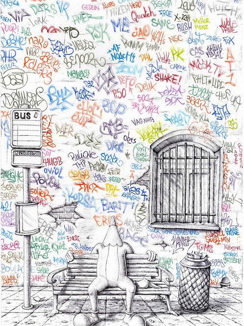 """Affiche """"le banc"""""""