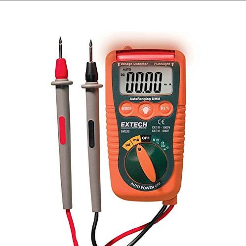 DM220: Multímetro pequeño con detector de voltaje sin contacto