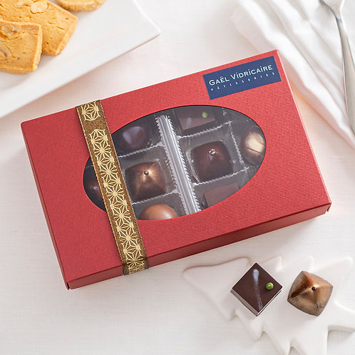 Coffret 12 bonbons chocolat