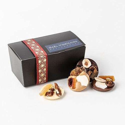 Ballotin de mendiants maison aux quatre chocolats