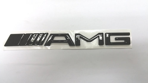 AMG GLOSSY BLACK CHROME BADGE