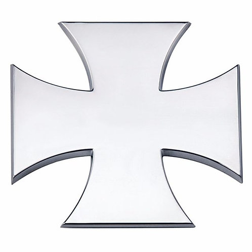 CROSS  SILVER CHROME BADGE