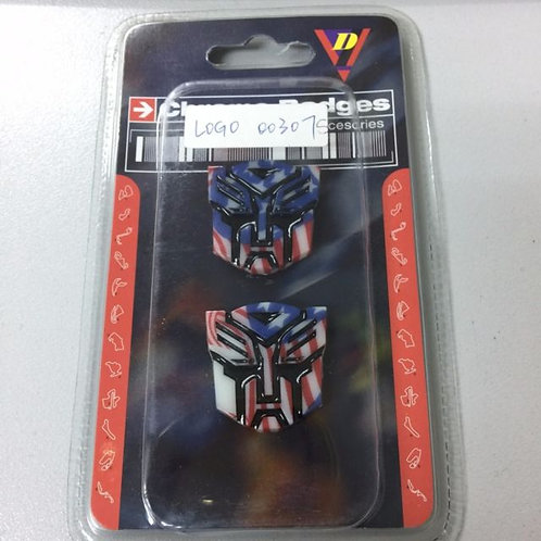 Small Transformer Car Sticker Autobot Badge Decal US Flag Patter