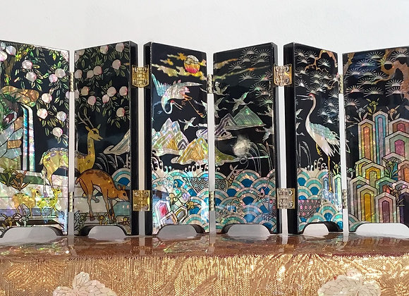 """Mother of Pearl Mini Screen with Objects of """"Sipjangseng"""""""