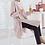 Thumbnail: Elegant Ribbon-Point Side-Slit Tunic Dress