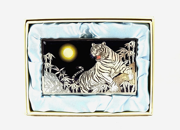 Anti Scan Credit Card Case with White Tiger Design