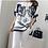 Thumbnail: Trendy Pattern Cape Style Tunic Top