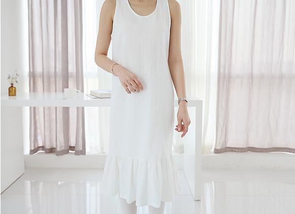 Hem Frilled Long Length Inner Dress