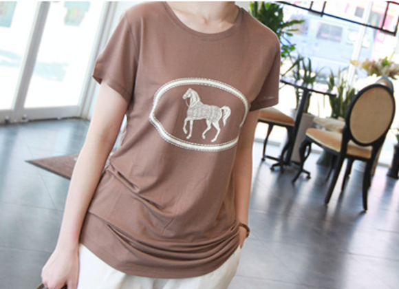 CoCo Silkette Horse Print T-Shirt