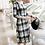 Thumbnail: Check Pattern Pleated Knee-length Dress