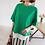 Thumbnail: Mock Shirt Layered Half Long Slit Sleeve Top