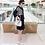 Thumbnail: Shoulder Cuddle Stripe Tunic Dress