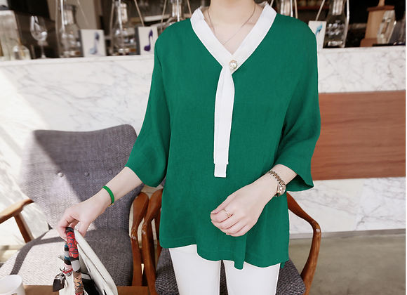 Pearl Point V-Neck Tunic Top