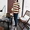 Thumbnail: Cute 3/4 Frilled Sleeve Stripe Top