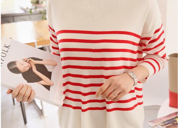 Smart Stripe Knit Top