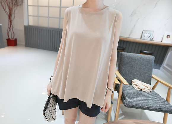 Chic A-Line Stretchable Sleeveless Top
