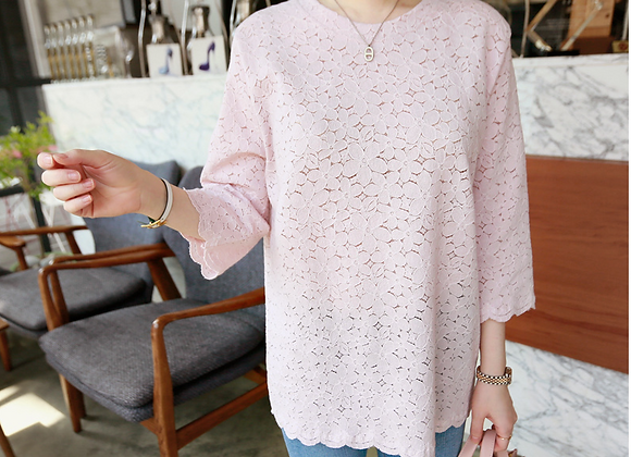 Elegant Lace Tunic Top