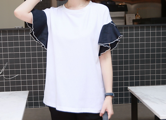 Cute Frilly Sleeve T-Shirt