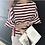 Thumbnail: Trendy Wide 3/4 Sleeve Stripe Top