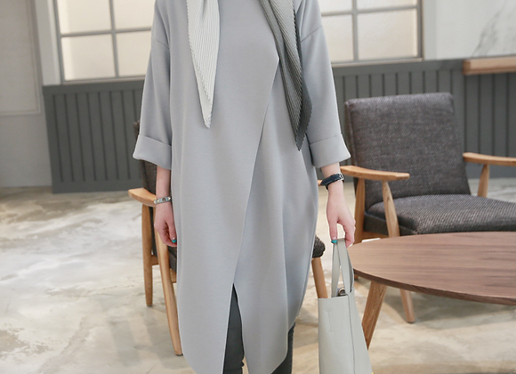 Long and Soft Wrap Tunic